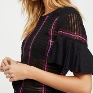 FREE PEOPLE Babes Only Stripe Knit Top size XS